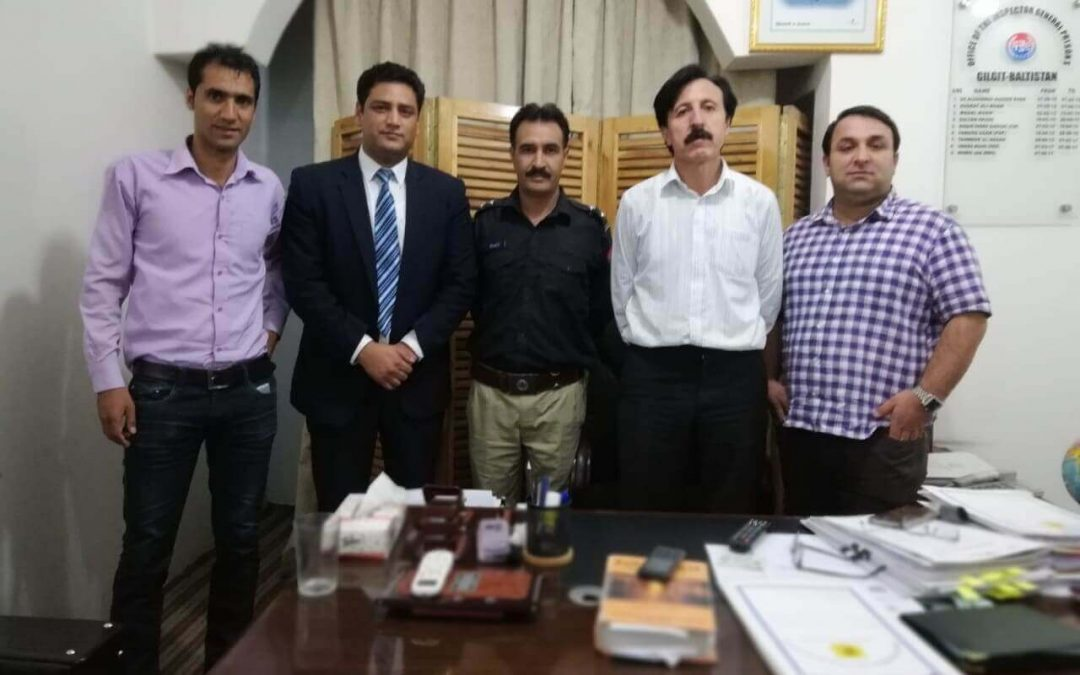 Qarshi Foundation team hold a meeting, in September, 2018, with Inspector General of Prisons of Gilgit Baltistan (GBV)