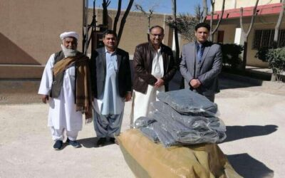 Receiving of Blankets at Central Jail, Quetta on 29-Jan-2021.