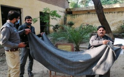 Receiving of Blankets at District Jail, Lahore on 30-Nov-2020.